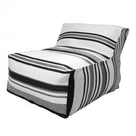 HK-living stoel Ottoman Lagune zwart, wit, grijs 80x100x70cm - 649 eur