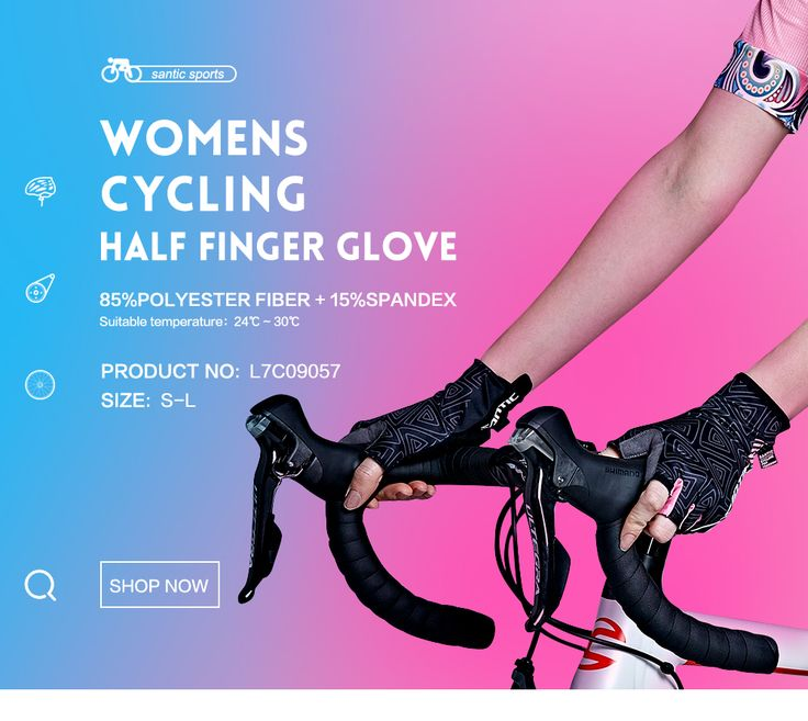 Santic Women Cycling Short Gloves Half Finger Sun Protection Heat Preservation MTB Bike Bicycle Riding Accessories  L7C09057