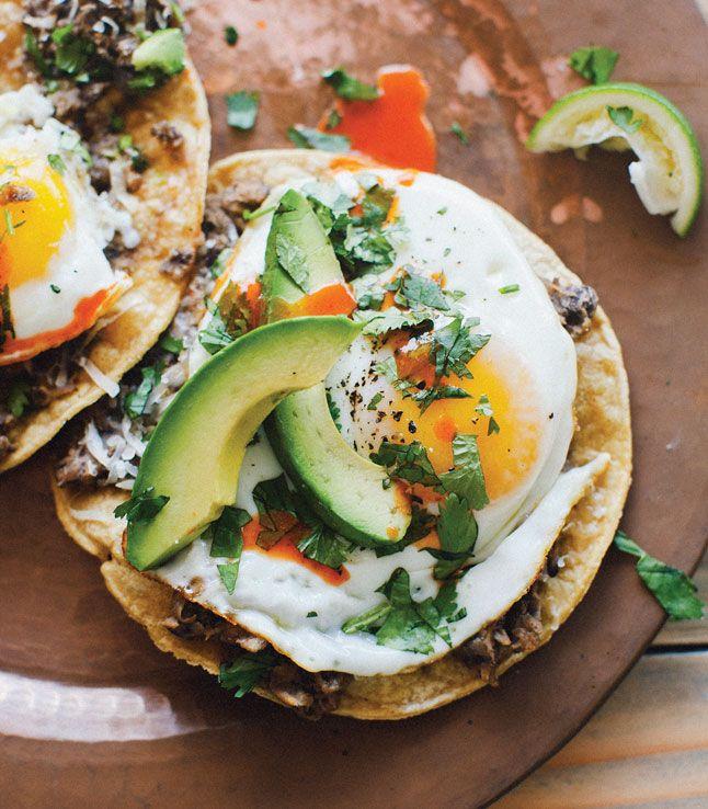 Ranchero Breakfast Tostadas Recipes from the Sprouted Kitchen Cookbook via bonappetit #Breakfast #Tostadas #Healthy