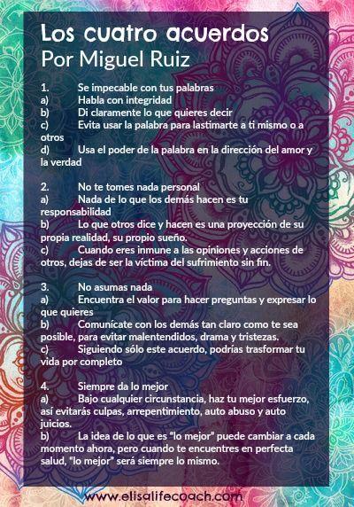Los cuatro acuerdos de Miguel Ruiz Resumidos