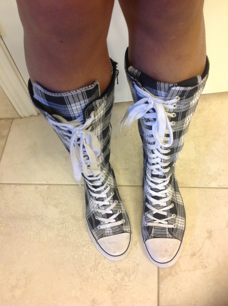 knee high converse shoes