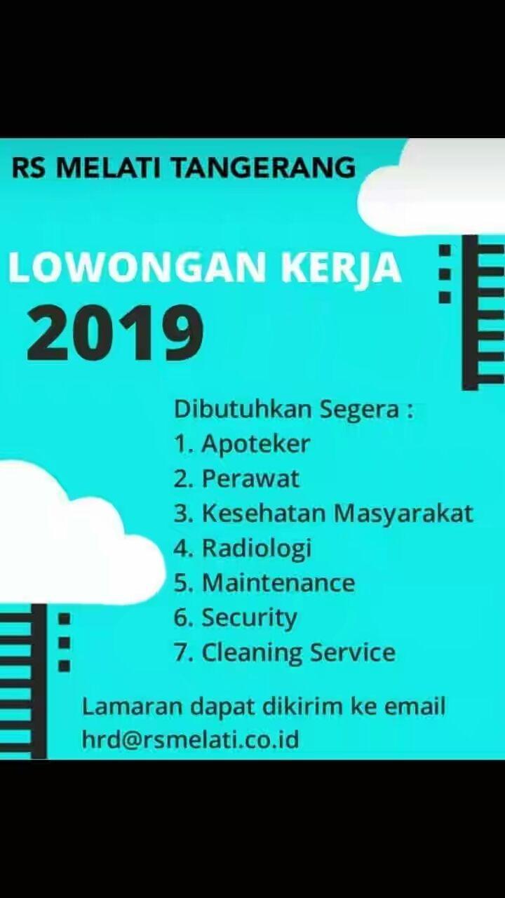 Lowongan Kerja Rumah Sakit Melati Tangerang Januari 2019 Ios Messenger
