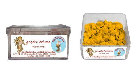 Greek Orthodox Handmade Incense - Angels Perfume. Plastic box of 30gr.