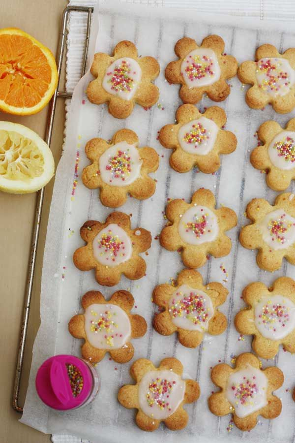 Iced citrus Shrewsbury biscuits (cookies) recipe
