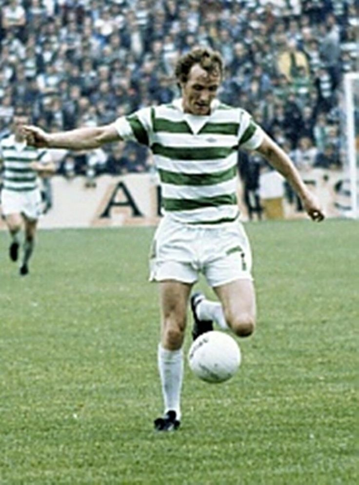 Johnny Doyle of Celtic in 1976.