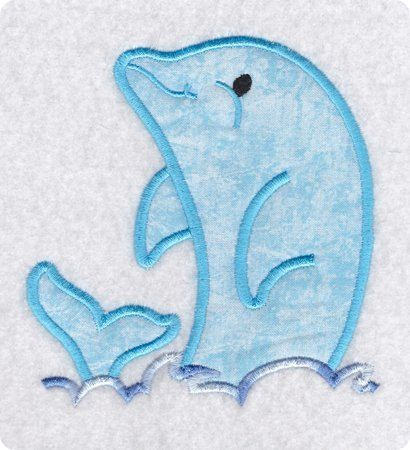 Applique Dolphin Play Embroidery Design-Includes 3 Sizes on Etsy, $1.95