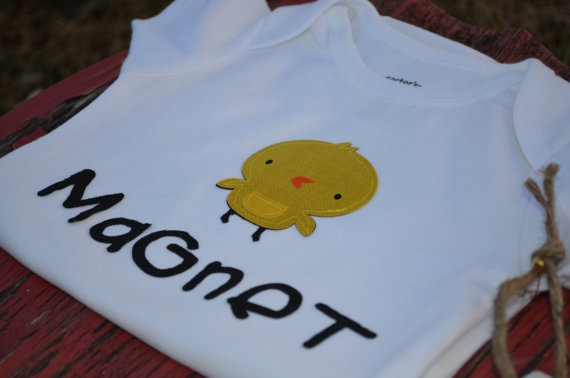 Chick Magnet! Fun onesie for Easter and Spring :-)