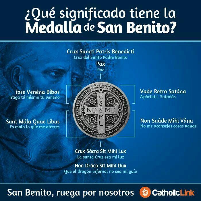 EL BICHO APARTANDO AL BICHO Medalla de San Benito #Sacramentales #Infografías