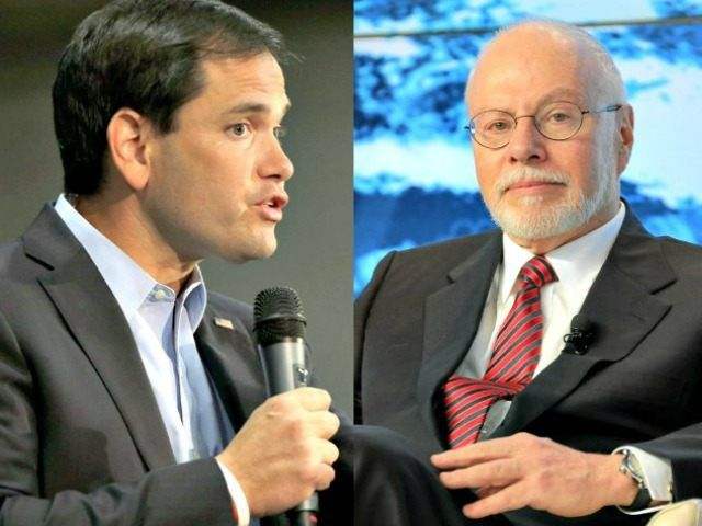 Paul Singer's foundation supports Common Core and has endorsed Marco Rubio, who has expressed opposition to the education reform.