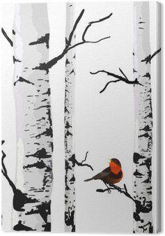 Obraz Na Platne Bird Of Brizy Vektorove Kresleni S Editovatelnych