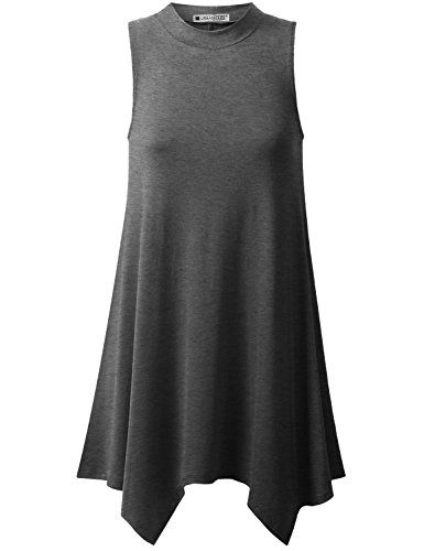 URBANCLEO | Basic Solid Sleeveless eLong Tunic Tank Top Shirt made with very soft and thin lightweight fabric that gives comfortable loose fit. Featuring with sleeveless and stylish handkerchief hemline that has long tunic length drapes along the front and the back. You can pair with leggings or skinny jeans and flat shoes for a perfect casual outfit. [URBANCLEO is an private brand designed, manufactured and sold exclusively by MKS America] * See this great product.