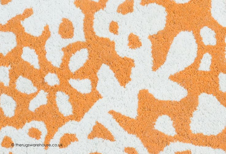 Appu Rug (texture close up), an orange & ivory elephant shaped wool children's rug (hand-tufted, 100% wool) http://www.therugswarehouse.co.uk/kids-rugs/appu-rug.html #kidsrugs #childrensrugs #nurserydecor