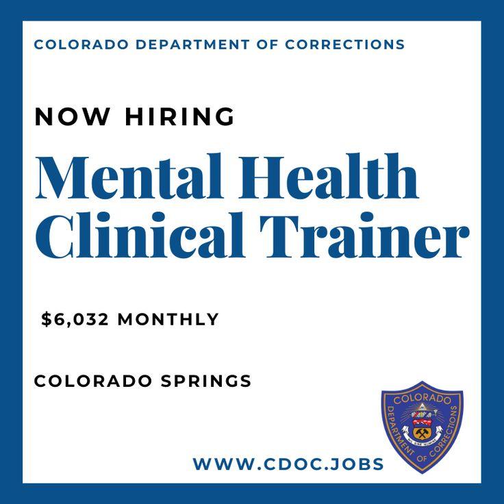 www.cdoc.jobs mentalhealth clinical trainer in 2020