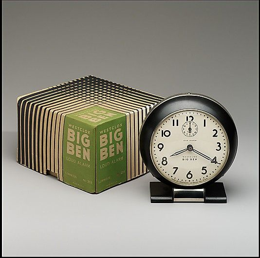 1938 Big Ben alarm clock, designed by Henry Dreyfuss. (Metropolitan Museum  of Art
