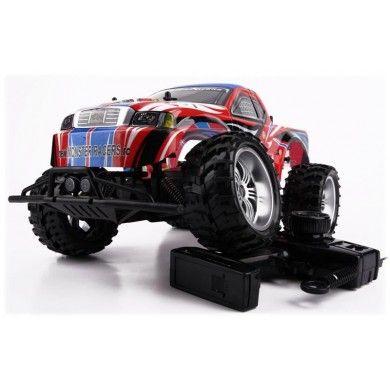 Zdalnie sterowany samochód terenowy Monster Truck RC model samochodu wyścigowo-terenowego, który zapewni doskonałą zabawę nie tylko dzieciom, ale również ich rodzicom. Zaprojektowano go w skali 1:8 i wykonano z plastiku i mocnej gumy. Opis, dane techniczne, komentarze oraz film Video znajdziesz na naszej stronie, nie ma jeszcze komentarzy, zostaw swój:)