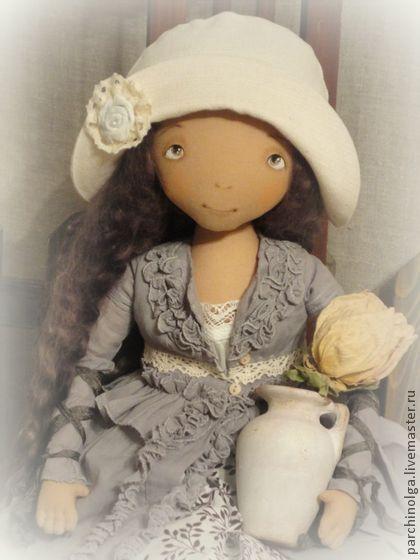 Маринка - серый,кукла,кукла ручной работы,девочка,кукла текстильная,кукла в подарок