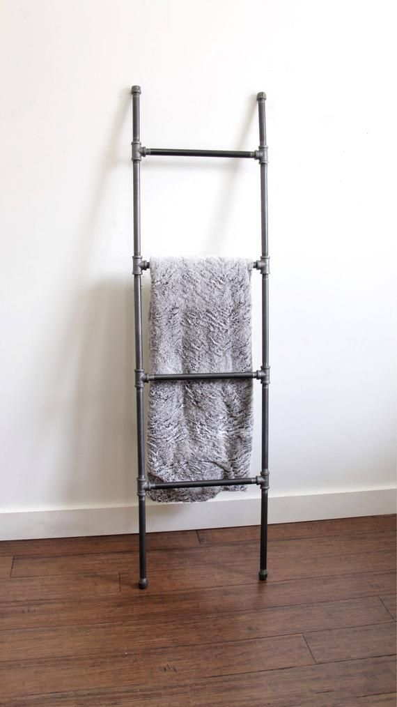 Blanket Ladder Industrial Decor Black Blanket Ladder Etsy Black Decor Living Room Inspiration Industrial Decor