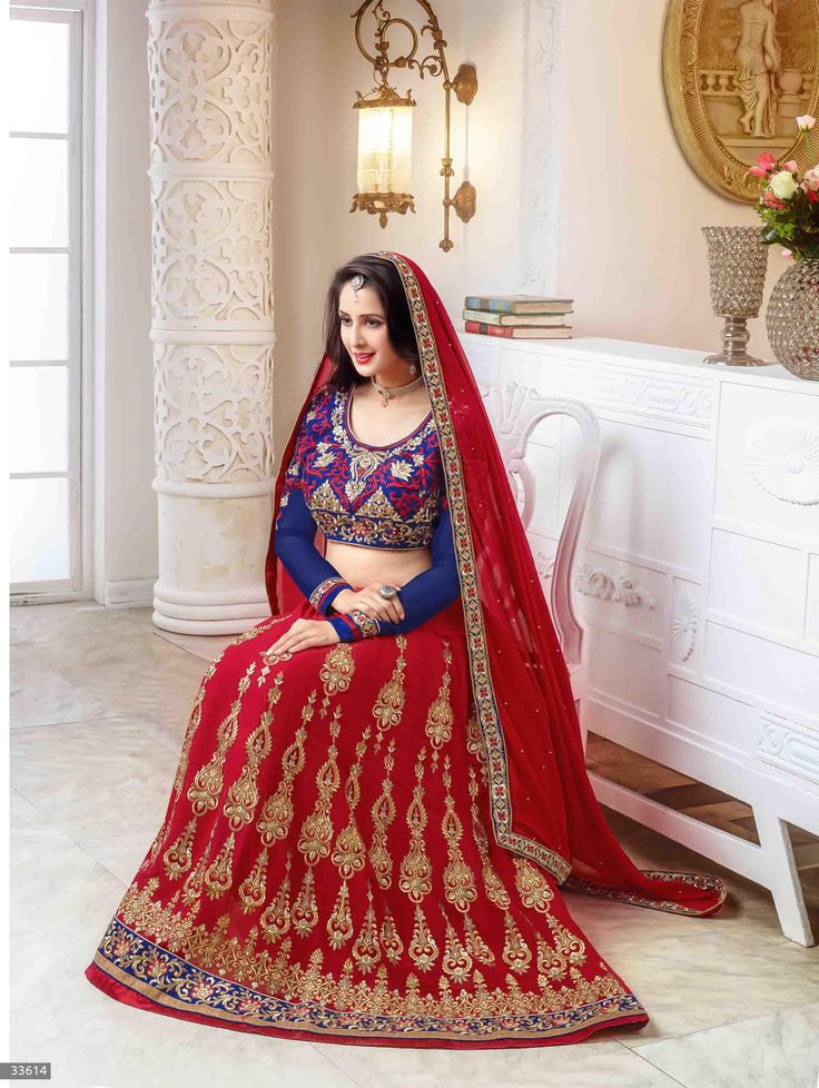 Chahat Khanna Designer Georgette Lehenga Choli with Silk Bottom and Chiffon Dupatta and also included Embroidery and Diamond work (Catalog - Chahat-khanna-5506)