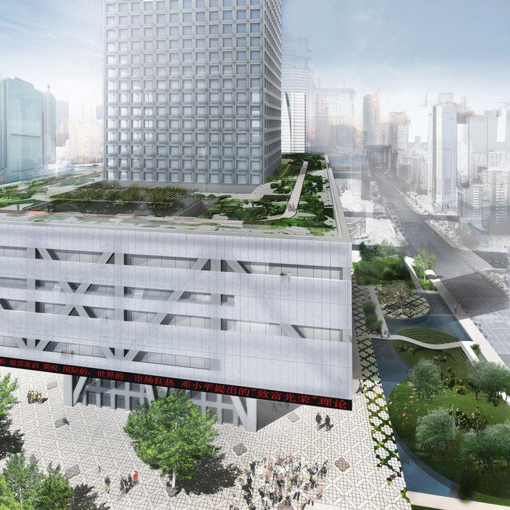 OMA presentation of the shenzhen stock exchange.