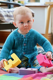 """""""Montessori,"""" by Carol Feller, knit with CoopKnits Socks Yeah! DK."""