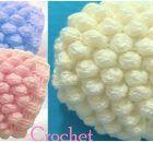 Crochet 3D Beanie Hat With Snow Balls Stitch