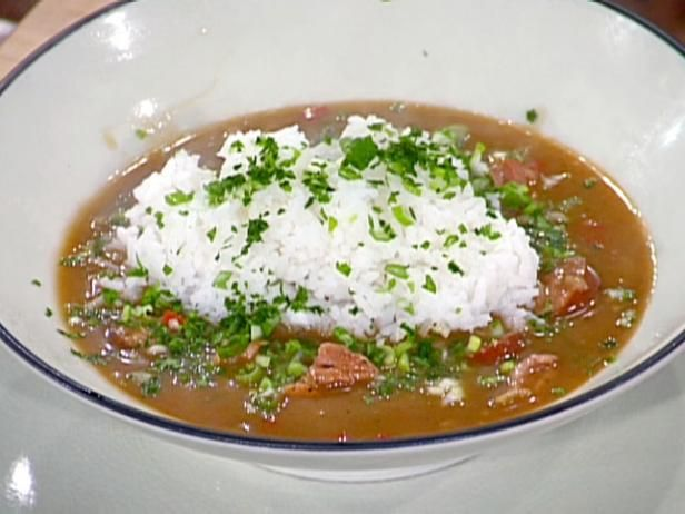 Get Chicken and Smoked Sausage Gumbo Recipe from Food Network