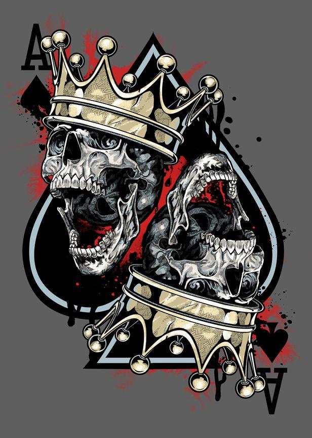 Tattoo idea. Skull and crown.