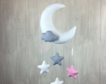 Cloud mobile sunshine mobile baby mobile by JuniperStreetDesigns