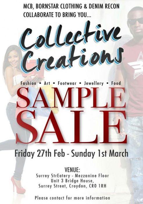 Collective Creations - Sample Sale -- Croydon -- 27/02-01/03