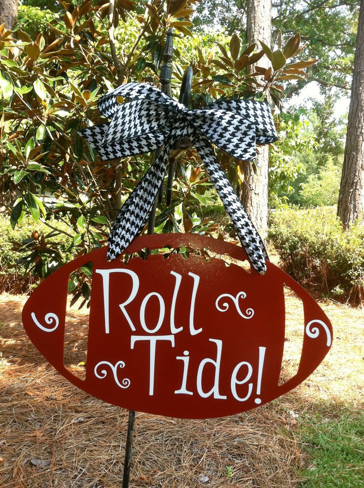 Alabama Football Wall Hanger! I miss football season so much! Already ready to be in that Bryant-Denny Stadium watching A.J. McCarron score a touchdown ! ;) love my Crimson Tide!! Roll Tide Roll! ;)