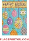 Floating Easter Eggs Garden Flag
