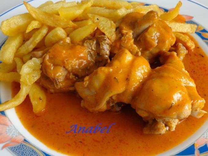 Receta : Pollo en salsa en olla rápida por Anabel