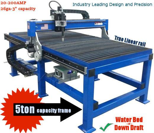 5x10 Star-Lab CNC Plasma table dual drive Precision Water bed Hypertherm