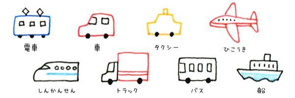 交通機関のアイコン