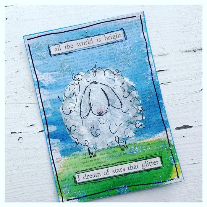 LillBlomman skapar: :: ATC - Cute Sheeps ::