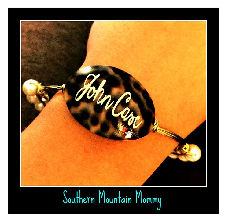 Monogram Bracelet. Baby boy's name! Mommy arm candy!! I love this!!! Check out the blog post on where to order from below!!!  {Pearls & Polka Dots }   {{Southern Mountain Mommy}}  http://www.southernmountainmommy.com/pearls-polka-dots-review/