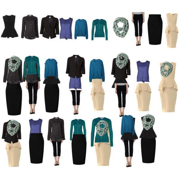Winter work capsule wardrobe