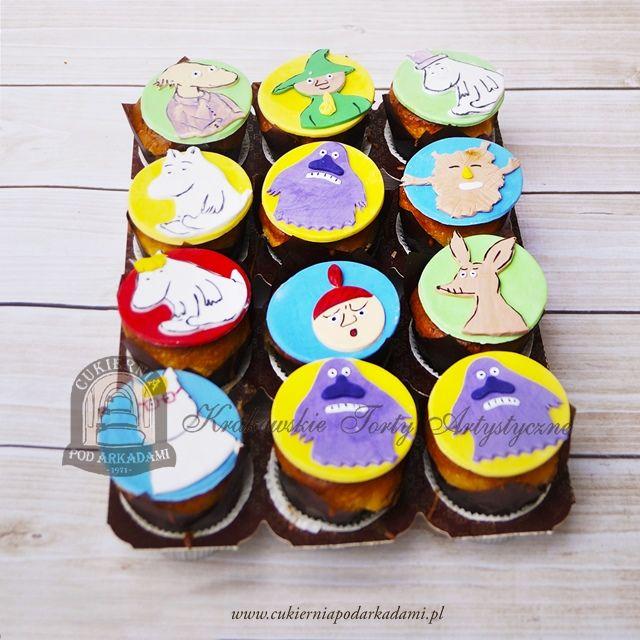17BC Babeczki z bohaterami Muminków. Mumintroll cupcakes.