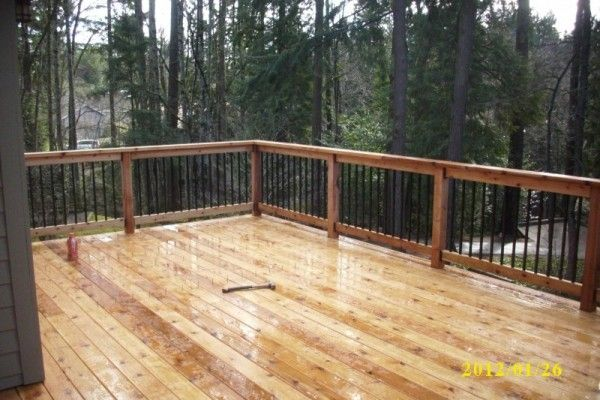 Second story cedar deck