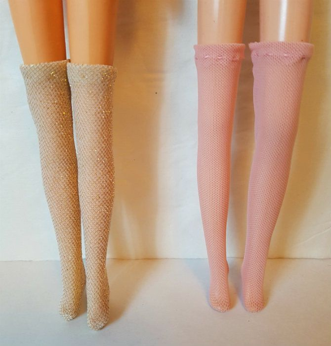 Thigh-High STOCKINGS Lot of 2 pairs fits Francie, Casey, Twiggy Repro Vintage #1 #dolls4emma #stockings