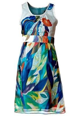 KalaMARIE - Robe mi-longue - bleu