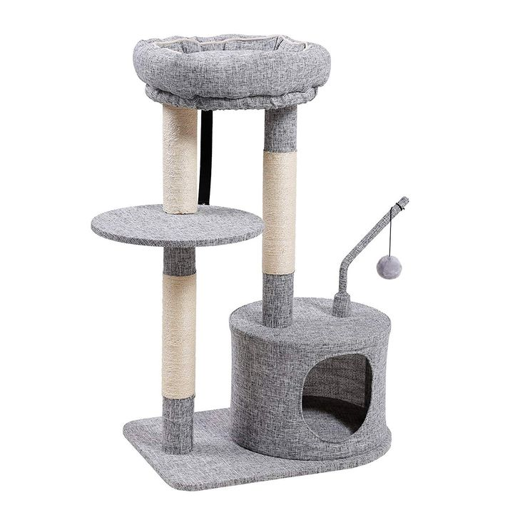 FEANDREA Cat Tree Sisal-Covered Scratching Posts £44
