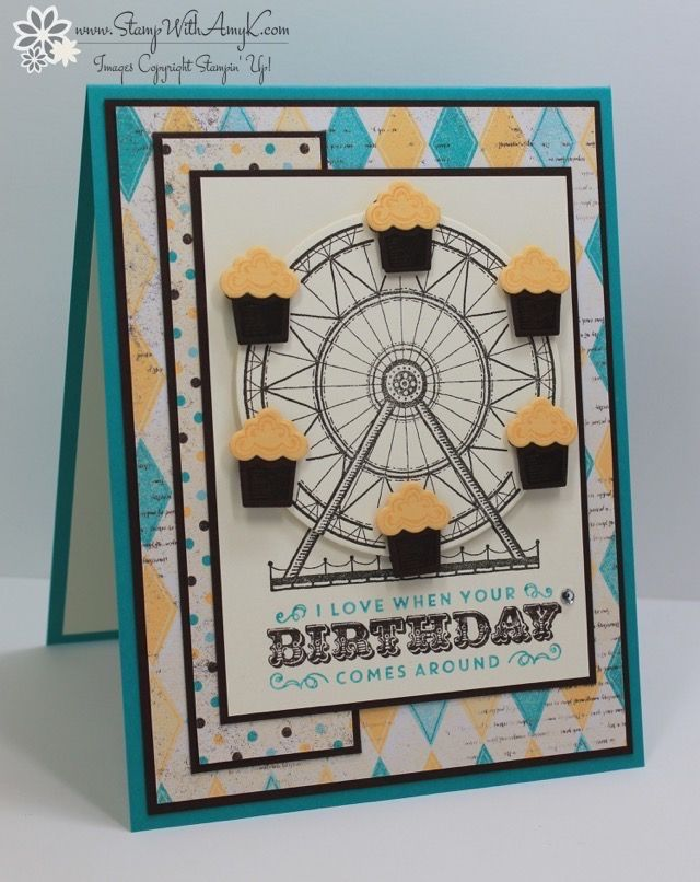 I used the Stampin' Up! Carousel Birthday stamp set from the upcoming 2017 Occasions Catalog to create my card to share today. And speaking of the upcoming catalogs, if you are a current cust…