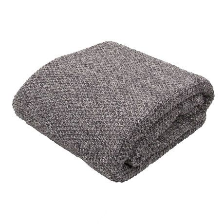 Dark Gray Cotton Throw | Scout & Nimble