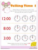 Telling Time with Melissa Mouse 1