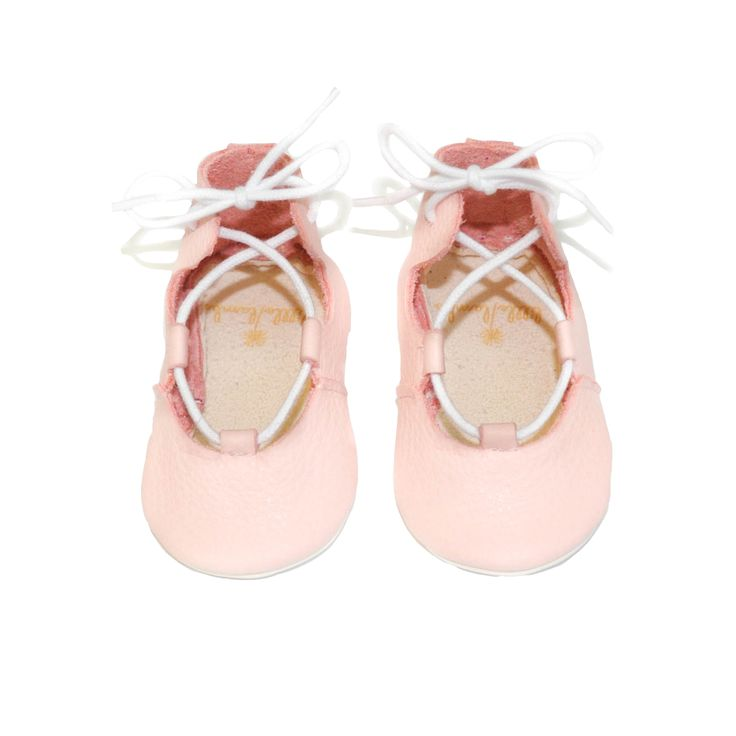 Can these ballerinas get any cuter? From infant to toddler, this pink version is great for special occasions.