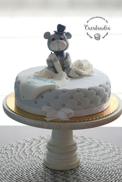 Cuculandia: Miś na Chrzest Św.  Christening cake for boy