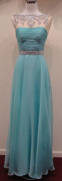Aqua Ballroom Dress
