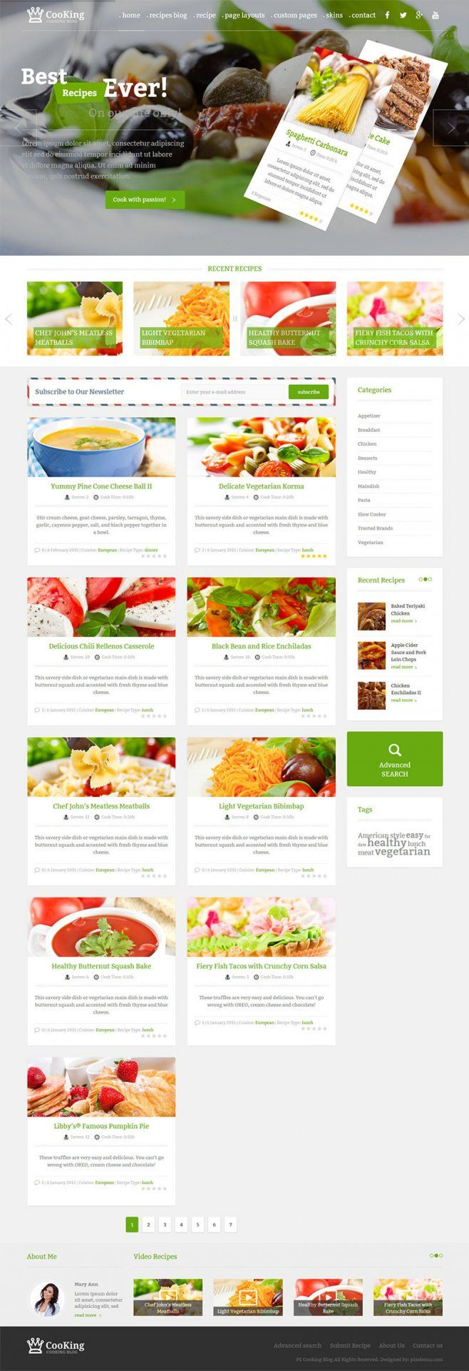 Cooking Blog WordPress theme Example with full-feature full-width header #blog #cooking #food #recipes #wordpress #theme https://www.pixelemu.com/wordpress-themes/i/1-cooking-blog