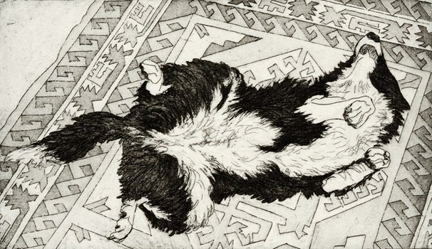 Too tired - Kevin Foley Etching and Aquatint 2012 $370.00 Available at www.cascadeprintroom.com.au